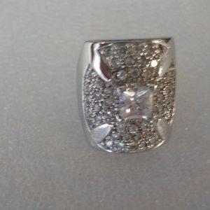 Sterling Silver Big Cusader Cross Ring